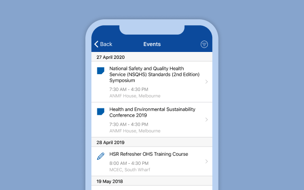 ANMF Diary App by Wave Digital