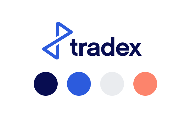 Tradex branding and colour palette